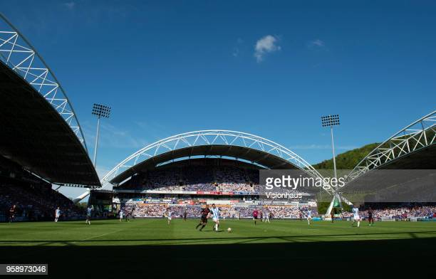Ageneral view of the stadium during the Premier League match between Huddersfield Town and Arsenal at John Smith's Stadium on May 13 2018 in...