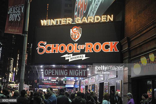School Of Rock Broadway Opening Night Arrivals And Curtain Call