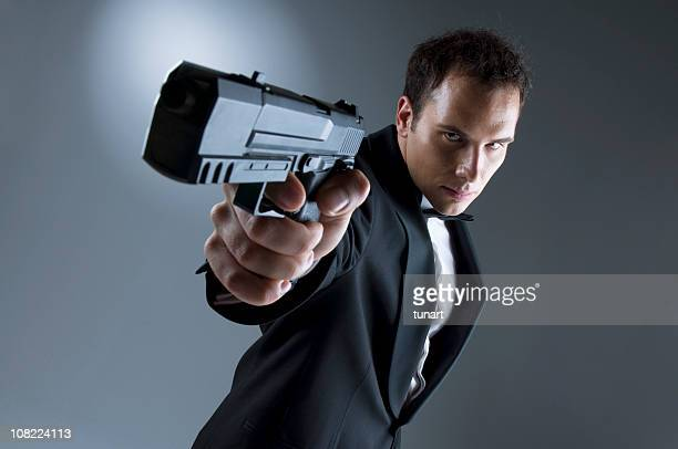 エージェント 007 - 銃 ストックフォトと画像