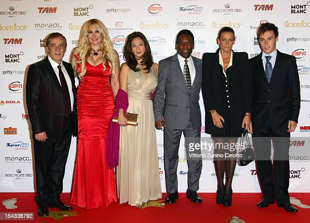 Agent Antonio Caliendo Alessandra Canale former football player Pele with his wife Princess Stephanie of Monaco and her son Louis Ducruet attend the...