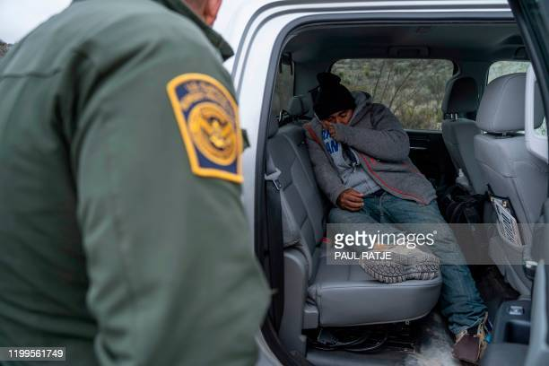 Agent Arain Carrera speaks to the Guatemalan man he and Agent Thaddeus Cleveland rescued on January 30, 2020 near Sanderson, Texas. - Left behind...