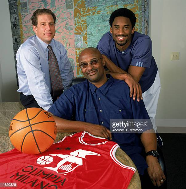 Agent Arn Tellem poses for a portrait with client guard Kobe Bryant of the Los Angeles Lakers and Bryant's father former NBA player Joe Jellybean...