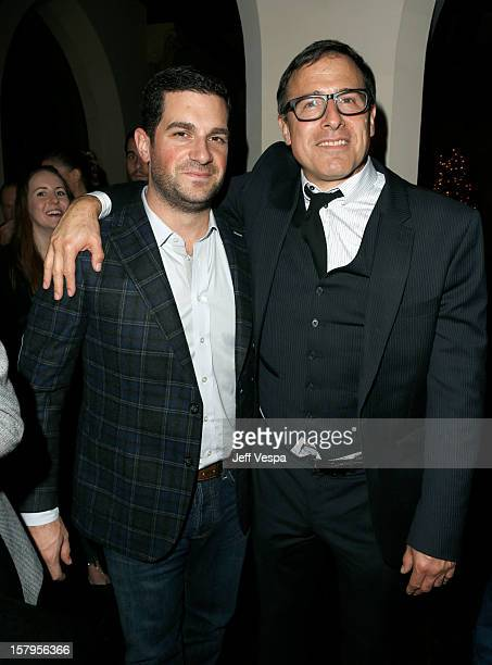 Agent David Bugliari and director David O Russell attend the SILVER LININGS PLAYBOOK Event Hosted By Lexus And Purity Vodka at Chateau Marmont on...