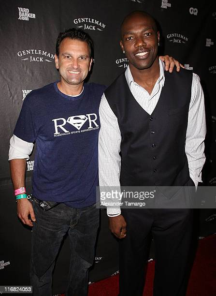 Agent Drew Rosenhaus and Dallas Cowboys Wide Receiver Terrell Owens attend Gentleman Jack, Yardbarker.com & GQ Super Bowl Party Hosted by Terrell...