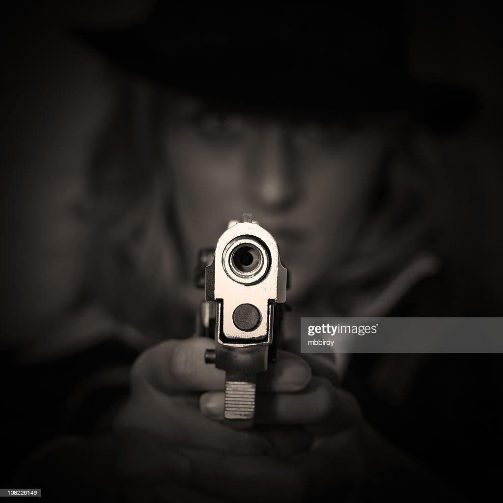 Agente no escuro : Foto de stock
