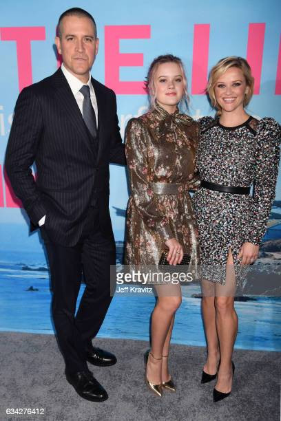 Agent Jim Toth Ava Elizabeth Phillippe and actor Reese Witherspoon attend the premiere of HBO's 'Big Little Lies' at the TCL Chinese Theater on...