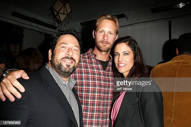 Agent Josh Lieberman Alexander Skarsgard and Tracy Brennan attend the SILVER LININGS PLAYBOOK Event Hosted By Lexus And Purity Vodka at Chateau...