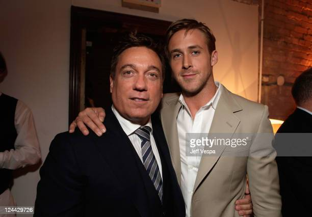 Agent Kevin Huvane and actor Ryan Gosling attendThe Ides of March party hosted by GREY GOOSE Vodka at Soho House Pop Up Club during the 2011 Toronto...