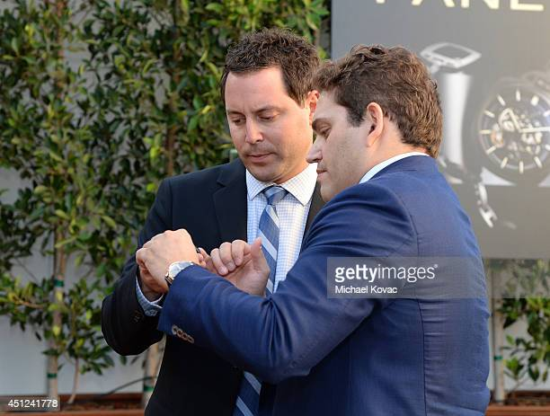 CAA agent Michael Kives and President of Panarai North America Rafael Alvarez attend the Panerai Summer 2014 Collectors Event at Mr C Beverly Hills...