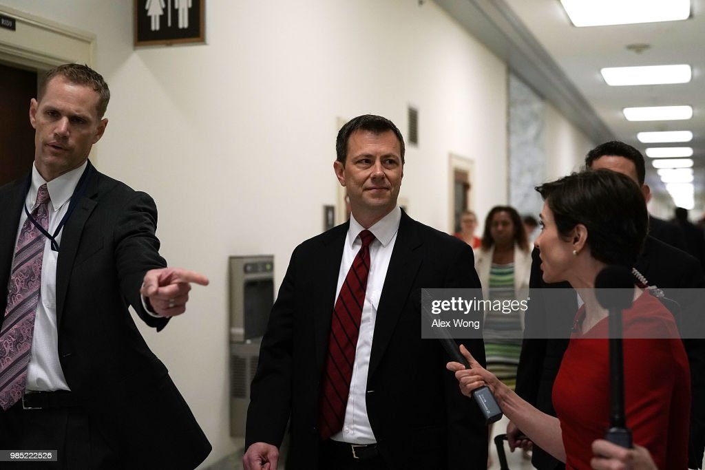 FBI Agent Peter Strzok Testifies Before House Hearing On Mueller Investigation : News Photo