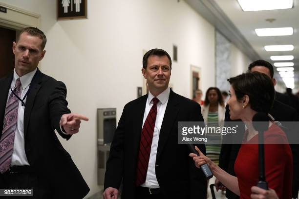 Agent Peter Strzok arrives at a closed door interview before the House Judiciary Committee June 27 2018 on Capitol Hill in Washington DC Strzok a...