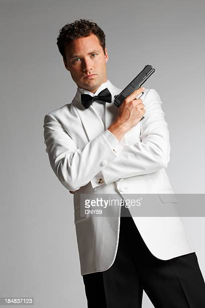 agent - white tuxedo stock pictures, royalty-free photos & images