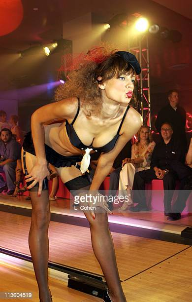 Agent Provocateur Model during Premiere of Lucky Strike Lanes 'Bowling Lounge' at Lucky Strike Lanes in Hollywood California United States
