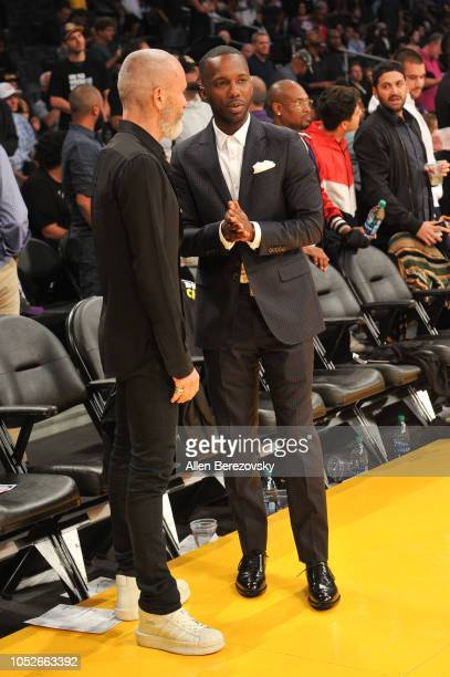 Agent Rich Paul attends a basketball game between the Los Angeles Lakers and the Houston Rockets at Staples Center on October 20 2018 in Los Angeles...