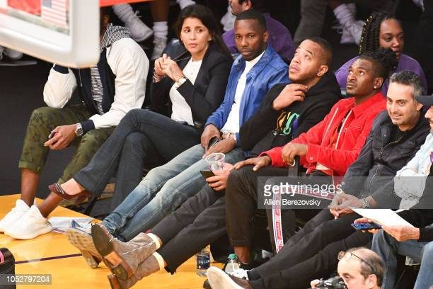 Agent Rich Paul attends a basketball game between the Los Angeles Lakers and the San Antonio Spurs at Staples Center on October 22 2018 in Los...