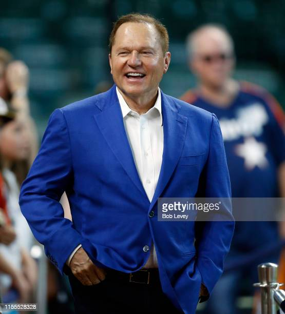 Agent Scott Boras in attendance before the Houston Astros play the Milwaukee Brewers at Minute Maid Park on June 12, 2019 in Houston, Texas.