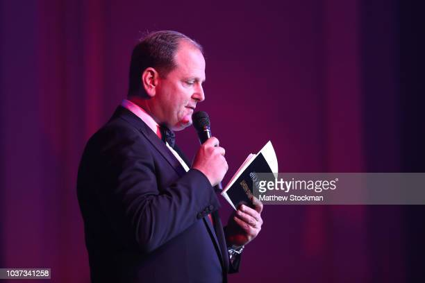Agent Tony Godsick speaks on stage during the Laver Cup Gala at the Navy Pier Ballroom on September 20, 2018 in Chicago, Illinois. The Laver Cup...
