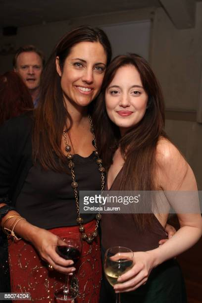 Agent Tracy Brennan and Andrea Riseborough attends Global Green USA and VDay's west coast premiere reading of Eve Ensler's new play OPC at Santa...