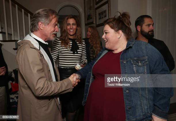 Agent Tracy Brennan introduces Don Johnson and Chrissy Metz at a party for the 20th Anniversary of the Savannah Film Festival hosted by CAA Agent...
