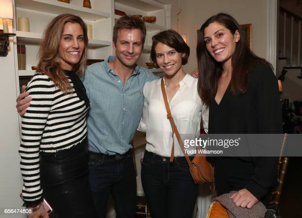 Agent Tracy Brennan Trent Broin Laura Cohen and Chelsea Jacobs attend a party for the 20th Anniversary of the Savannah Film Festival hosted by CAA...