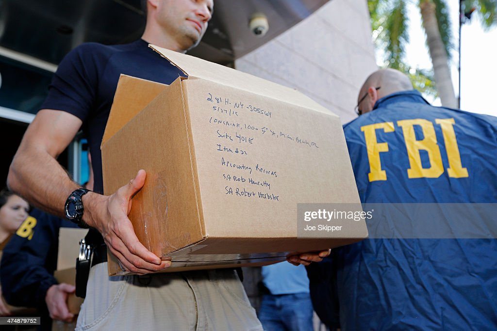 Law Enforcement Officials Search Offices Of CONCACAF And Soccer Event Company In Miami Over FIFA Indictments : News Photo
