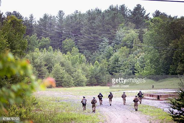 FBI agents cunduct a search for convicted murderer David Sweat on June 28 2015 near Duane New York On Friday Richard Matt who escaped with Sweat was...