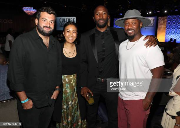 Agents Zach Iser and Caroline Yim, Ezekiel Lewis of Epic Records and Jeriel Johnson of the Grammys attends the Culture Creators Innovators & Leaders...