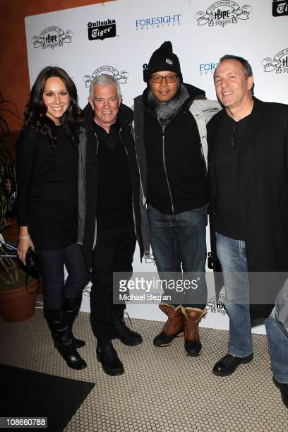 Aggie Bartlomowicz Producer Mark Damon actor Terrence Howard and director Matthew Chapman attends the House of Hype LIVEstyle Lounge on January 23...