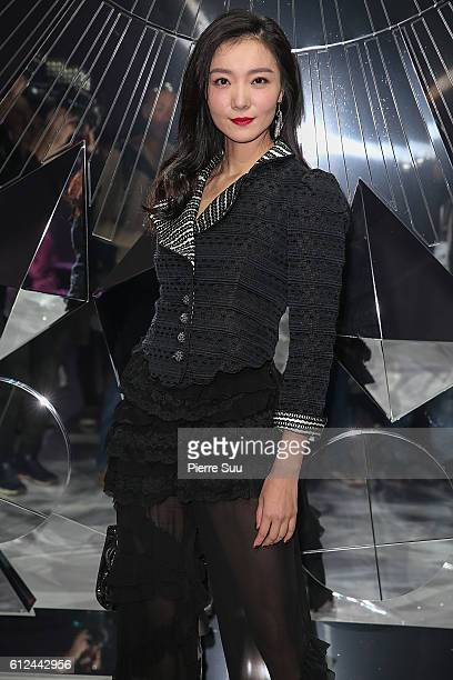 Aggie Hsieh attends the Shiatzy Chen show as part of the Paris Fashion Week Womenswear Spring/Summer 2017 on October 4 2016 in Paris France
