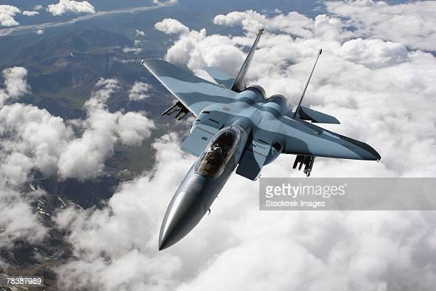 F-15C Aggressor in flight.