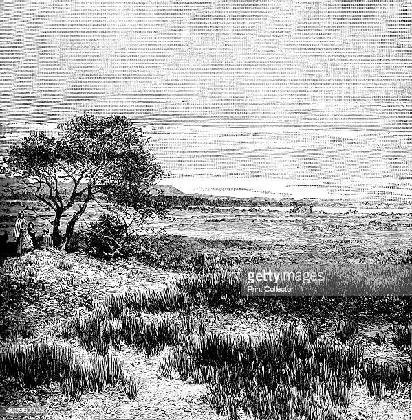 Agha Valley Central Pampa Argentina 1895 From The Universal Geography with Illustrations and Maps division XXXVIII written by Elisee Reclus and...
