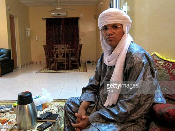Aghaly ag Alambo the former leader of the Niger Justice Movement a Tuareg rebel group from 20072009 sits in his home in Niamey Niger after returning...