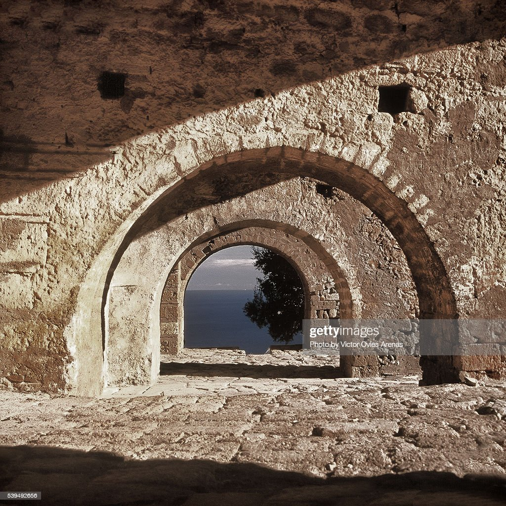 Aghia Sophia in Monemvasia : Stock Photo