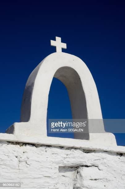 Aghios Ioannis coastal Chapel on the beach in the south of Andros island in Greece