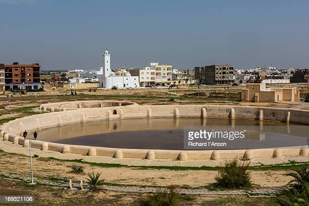aghlabid basins - kairwan stock pictures, royalty-free photos & images