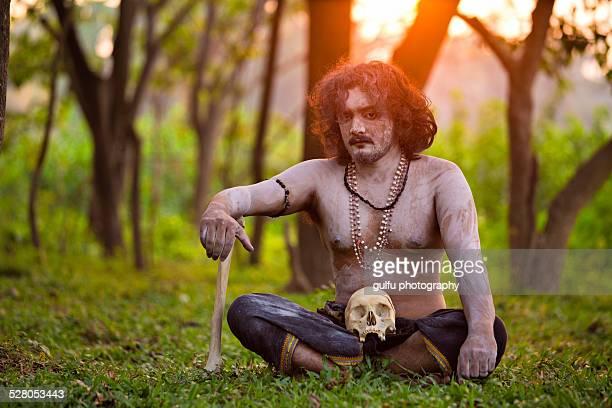 aghori - naga sadhu stock pictures, royalty-free photos & images