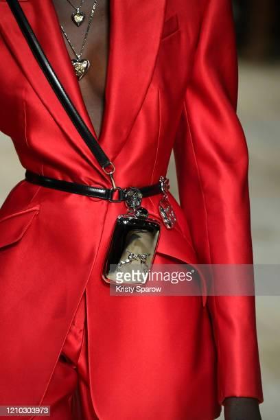 Agi Akur walks the runway during the Alexander McQueen show as part of Paris Fashion Week Womenswear Fall/Winter 2020/2021 on March 02 2020 in Paris...