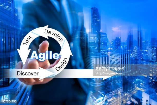 agile and scrum concept - agility stock pictures, royalty-free photos & images