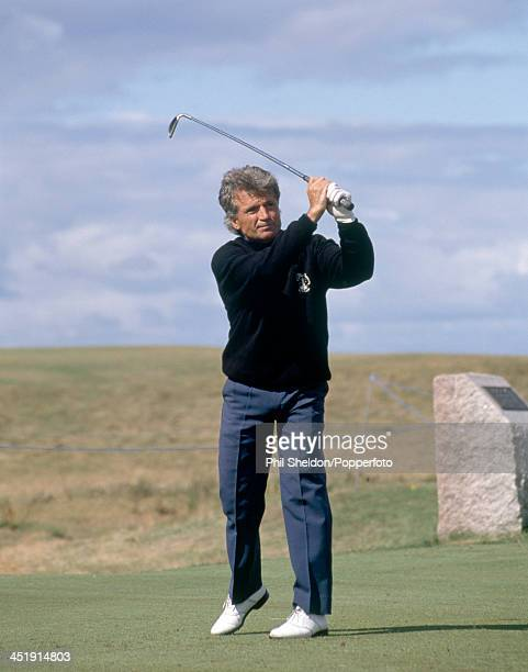 Agim Bardha of Albania in action during the Seniors Open Golf Championship held at the Turnberry Golf Resort in Scotland circa July 1989