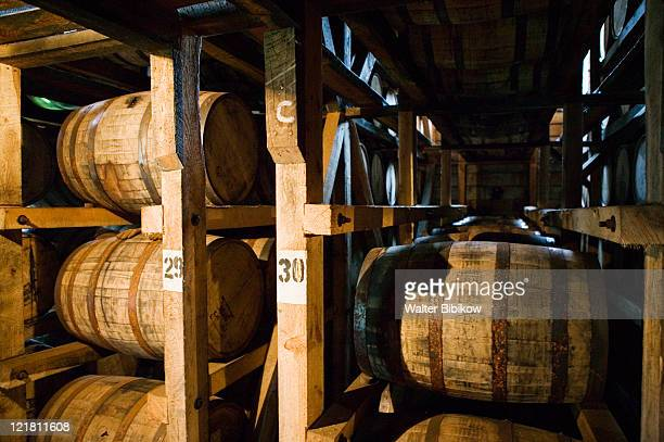 Aging bourbon in barrels, Maker's Mark Bourbon Distillery