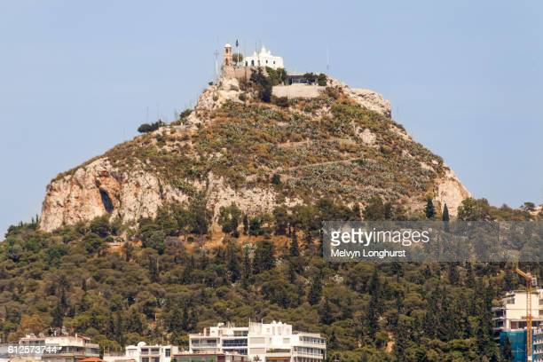 Agios Georgios, Chapel of Saint George, on top of Lykavittos Hill, also known as Mount Lycabettus, A