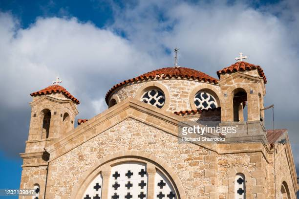 agios georgios church, peyia, cyprus - windsor england stock pictures, royalty-free photos & images