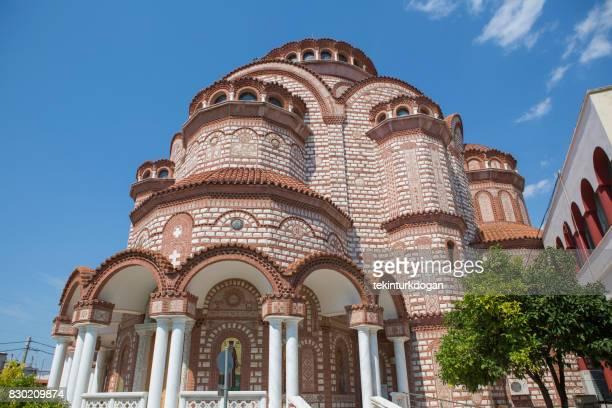 l'église Agios georgios temple chez neo moudania ville de Chalcidique Thessalonique Grèce