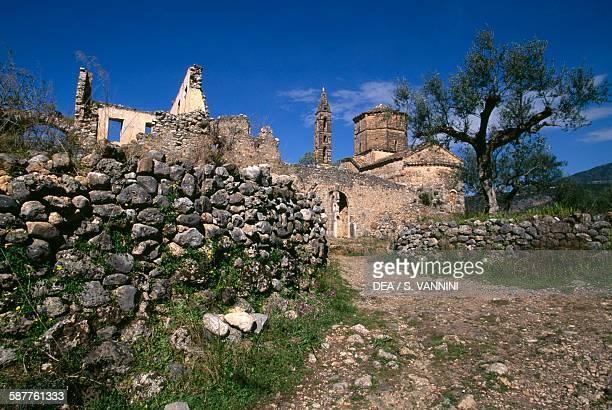 Agios Spyridon church in Kardamyli Peloponnese Greece 13th century