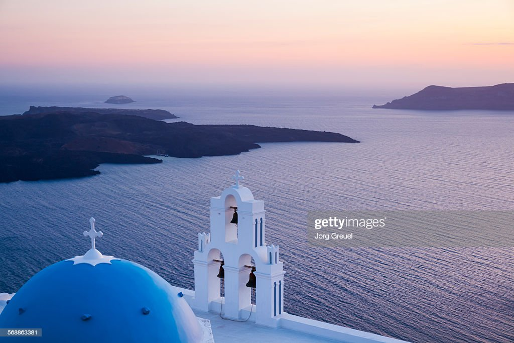 Agios Theodori church at sunset : Stock Photo