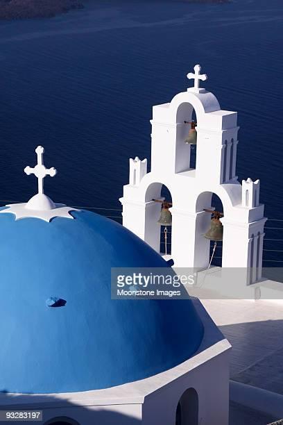 聖 Theodori の教会フィロステファニ、サントリーニ(ギリシャ)