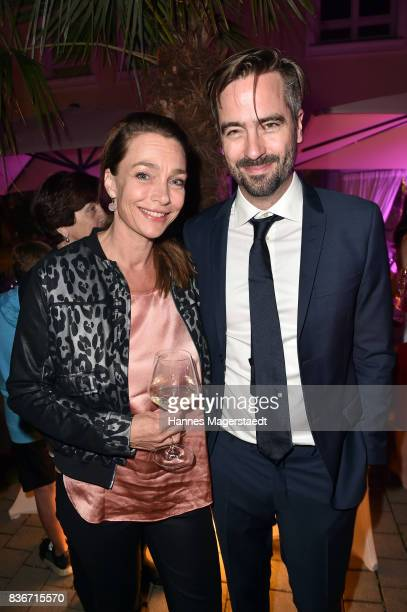 Aglaia Szyszkowitz and Alain Gsponer during the 'Jugend ohne Gott' premiere party at H'Ugo's on August 21 2017 in Munich Germany