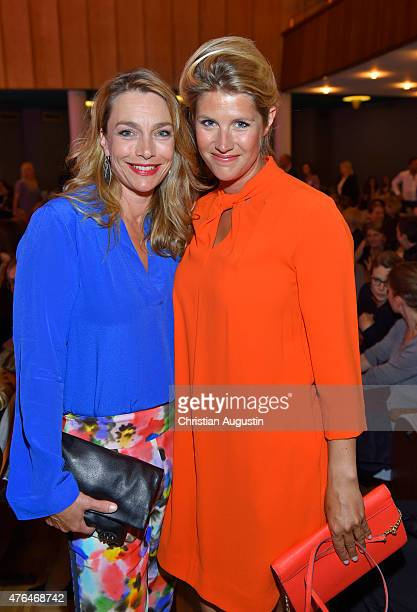 Aglaia Szyszkowitz and her sister Gwendolin SzyszkowitzSchwingel attend Emotion Award at the Laeiszhalle on June 9 2015 in Hamburg Germany