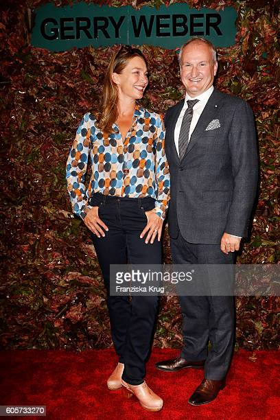 Aglaia Szyszkowitz and Karsten Oberheide attend the Gerry Weber shop opening on September 14 2016 in Munich Germany