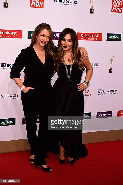 Aglaia Szyszkowitz and Simone Thomalla attend the red carpet at the 'Goldene Bild der Frau' award at Stage Theater on October 13 2016 in Hamburg...